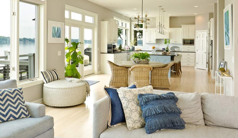 дизайн кухні і вітальні разом