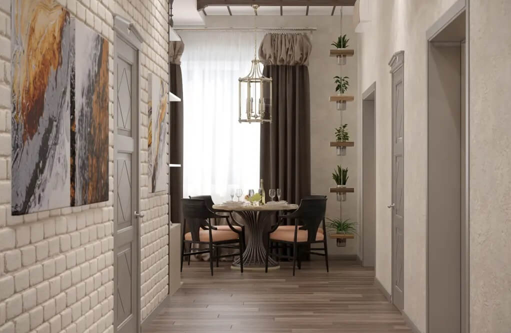 дизайн вузького коридору у квартирі