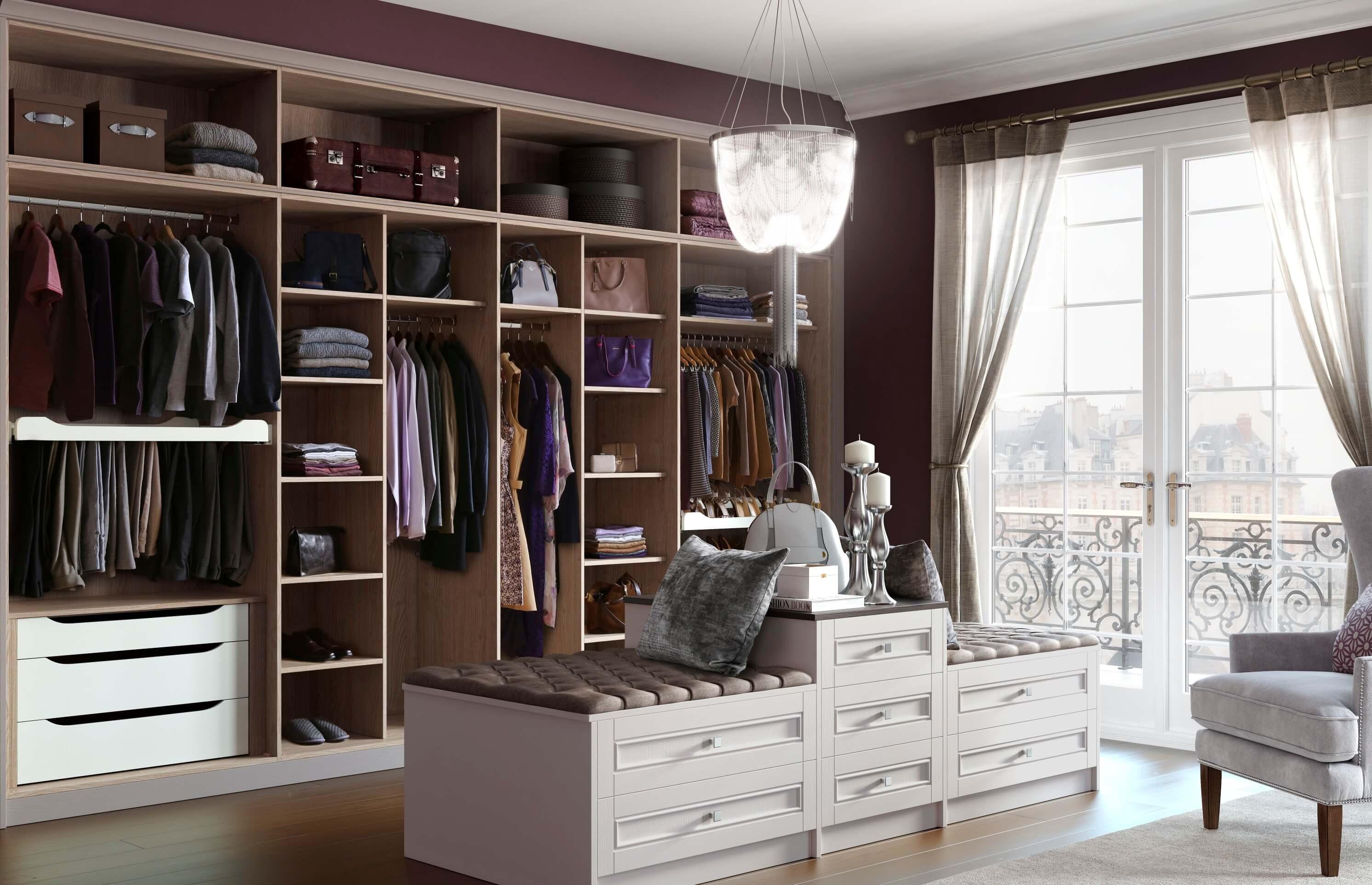 гардеробні кімнати дизайн