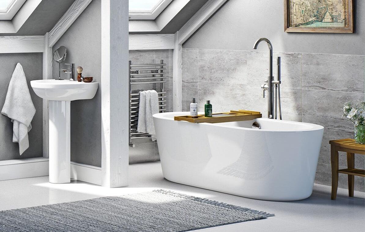 монтаж кутової акрилової ванни