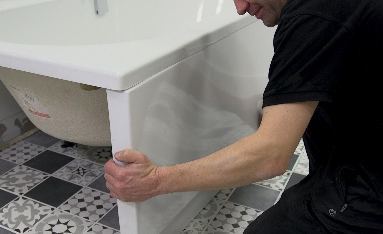 встановлення акрилової ванни