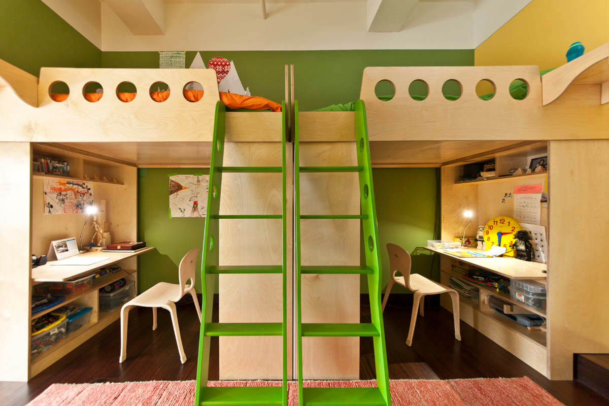 зонування дитячої спальні для двох дітей