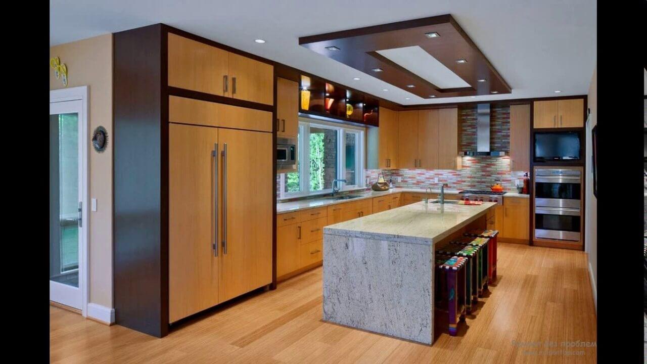 дизайн стелі в кухні