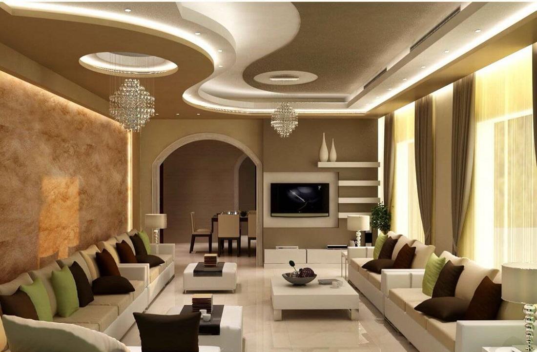 дизайн стелі в залі