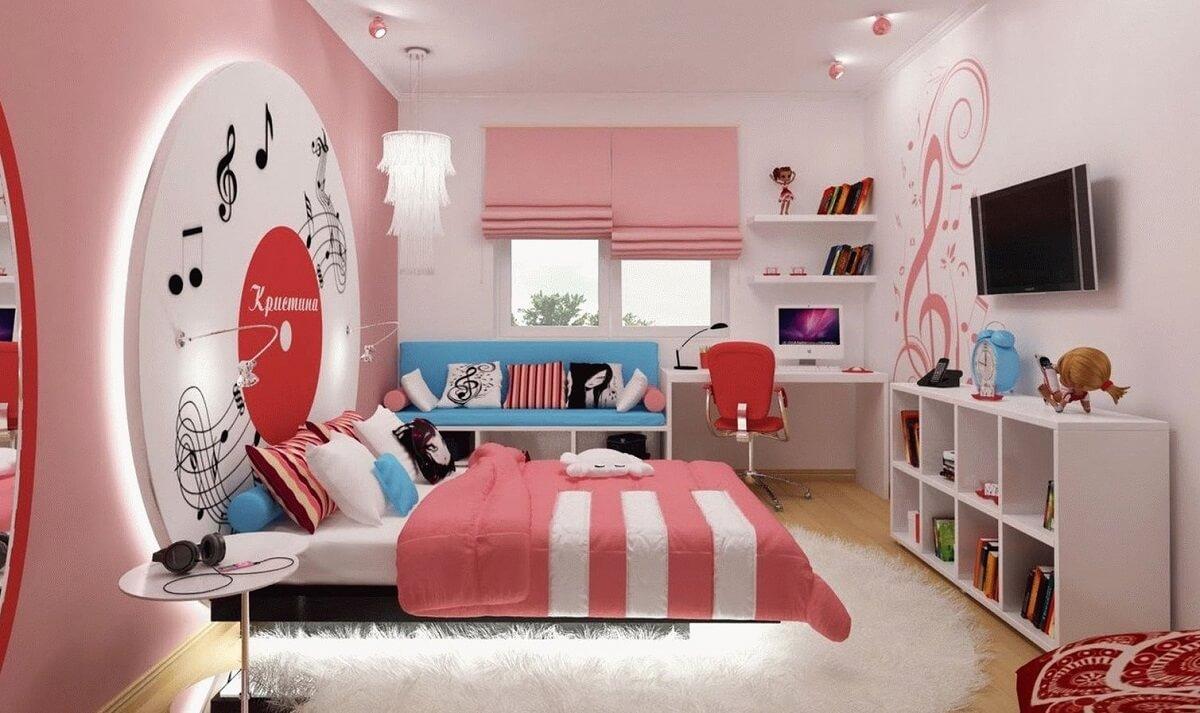 дизайн кімнати для підлітка дівчини