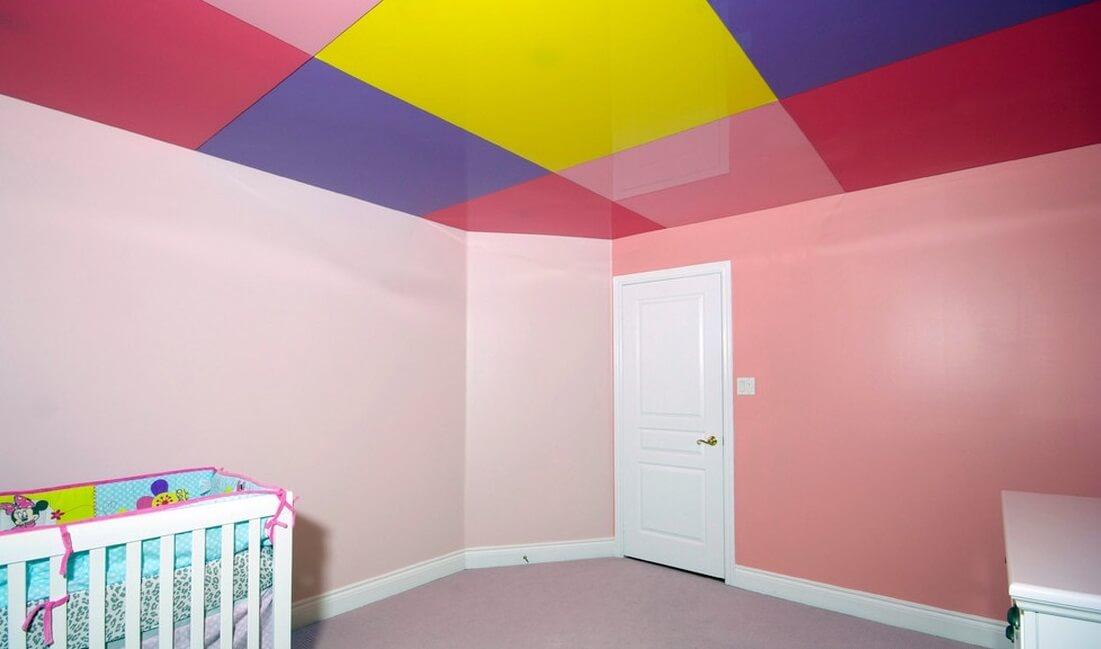 Натяжні стелі в дитячу кімнату