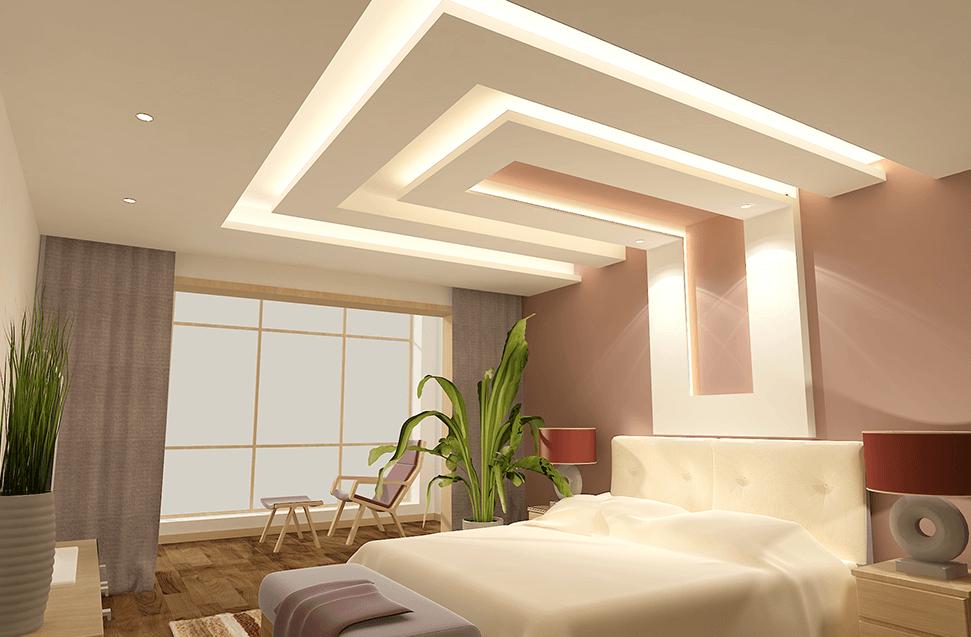 підвісні стелі в спальні
