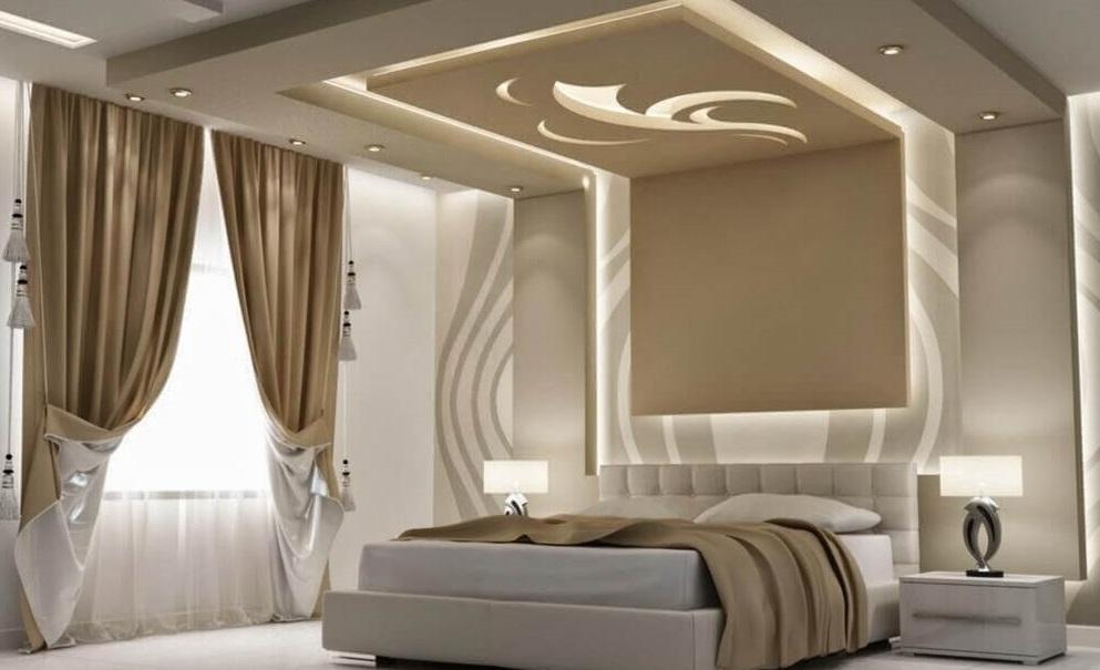 підвісні стелі з гіпсокартону в спальні